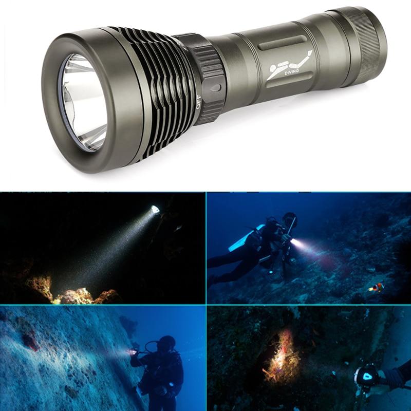 CREE XM-L2 18650 Or 26650 Diving Flashlight LED Underwater Flashlights Waterproof Portable Lantern Dive Light Lamp Torch