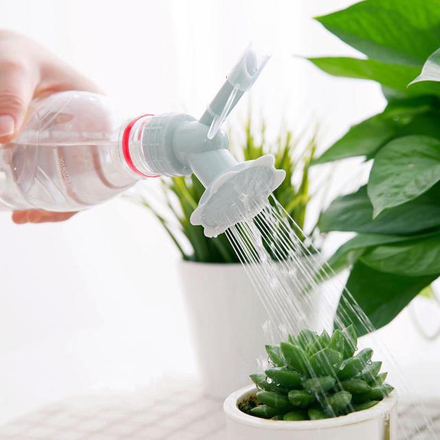 JUSHFO 2-in-1 plastikowy zraszacz dysza kształt kwiatu podlewania zraszacz butelka konewka ciśnienia dysza rozpylająca do nawadniania narzędzie ogrodowe tanie tanio CN (pochodzenie) Z tworzywa sztucznego Watering Sprinkler Nozzle