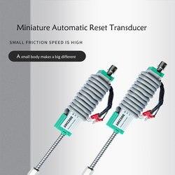 Ktr fino 10 25 50 75 100mm linear sensor de deslocamento automático redefinir eletrônico régua miniatura primavera deslocamento transdutor