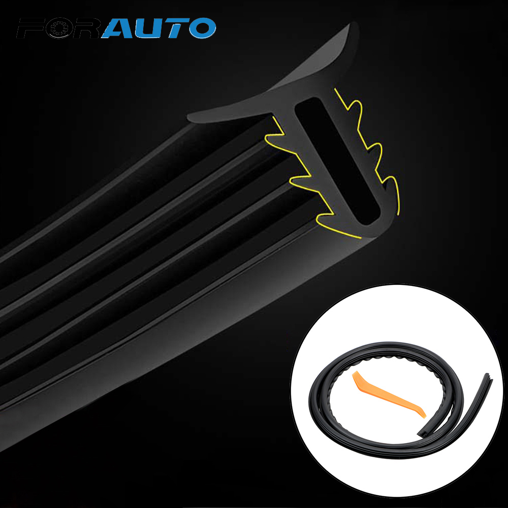 FORAUTO Car Rubber Dashboard Seal Strip Auto Noise Sound Insulation Rubber Strip Filler Weatherstrip Car Stickers Car-styling