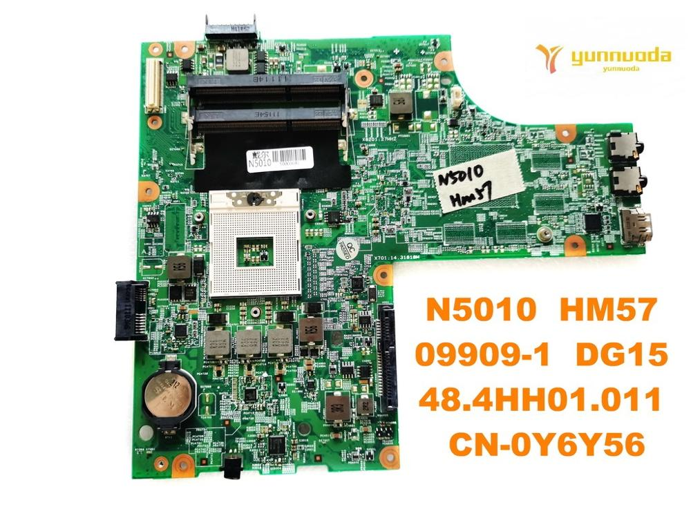 Original for <font><b>DELL</b></font> <font><b>N5010</b></font> laptop <font><b>motherboard</b></font> <font><b>N5010</b></font> HM57 09909-1 DG15 48.4HH01.011 CN-0Y6Y56 tested good free shipping image