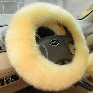 """Image 2 - Kawosen Winter Warm Australische Wol Stuurhoes Voor 14.96 """"X 14.96"""" Stelen Wheel In Diameter 38 Cm WSWC01"""