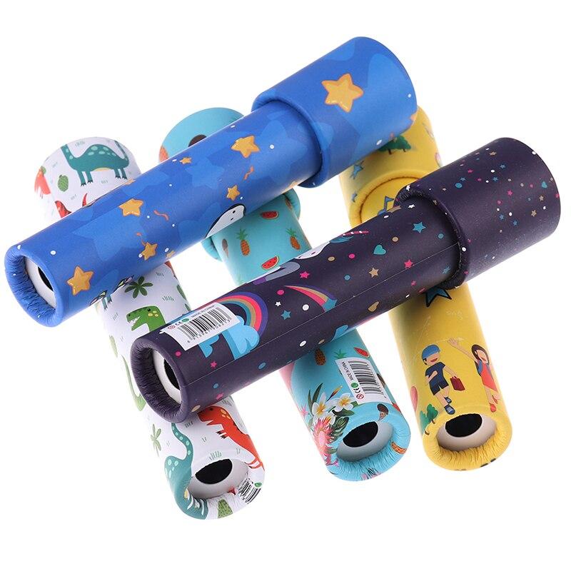 Interactive Logical Rotating Kaleidoscope Magic Classic Educational Toys for Kids Imaginative Cartoon Children