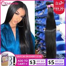 Gabrielle бразильские прямые волосы в пучках 30 32 34 40 дюймов натуральный цвет Дешевые Натуральные кудрявые пучки волос пряди Remy наращивание волос