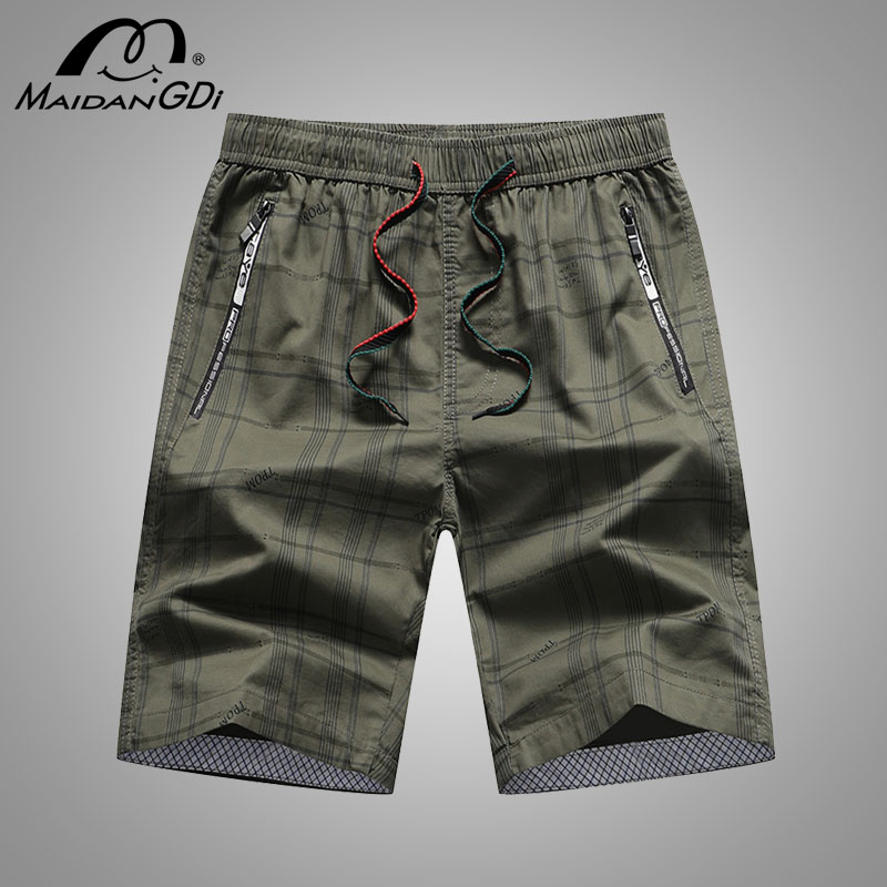 2020 Summer New Men's Shorts Lace Up Loose Breathable Beach Wear For Men Lattice Leisure Pants Teenager Solid Cotton Shorts