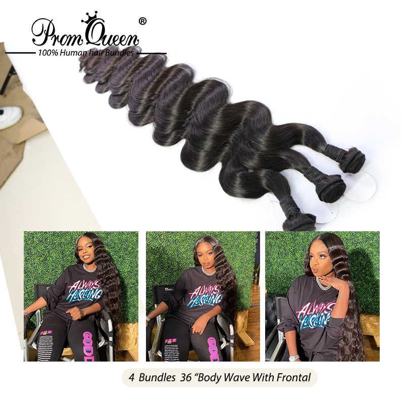 Prom Königin Remy Haar Brasilianische Menschliches Haar Bundles Körper Welle 1/3/4 Doppel Maschine Schuss Menschliches Haar Weave Bundles Kostenloser Versand