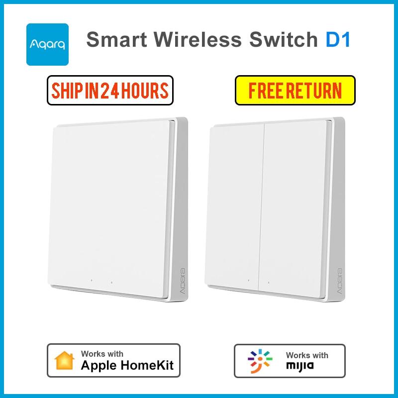 Aqara Wall Switch D1 Zigbee Smart Wireless Key Light Button Wifi Remote Control Wireless Opple Switch Support Mijia APP HomeKit
