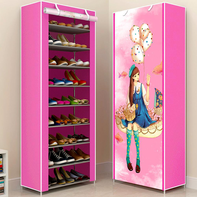 Hot Sale Multilayer Shoe Rack Easy assmble Shoes Storage Closet Organizer Home Furniture Space saving Nonwoven Shoe Cabinets