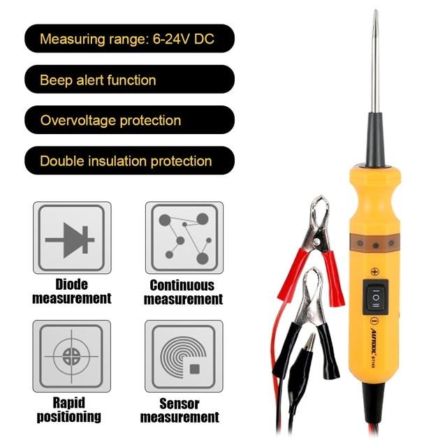 AUTOOL – testeur électrique de Circuit de voiture BT160, sonde de puissance 12 24v Diode, mesure de capteur continu, positionnement rapide, Diagnostic