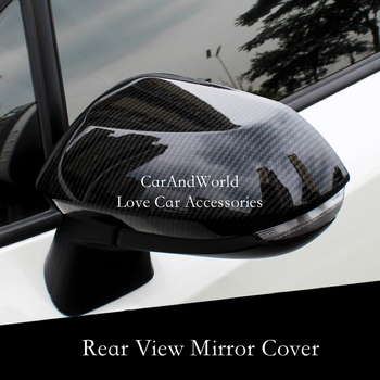 For Toyota Corolla 2019 2020 Rear View Mirror Cover Rearview Panel Frame Cover Trim Carbon Fibre Sticker Car Molding Accessories