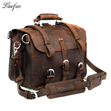 Thick Crazy horse leather travel bag 2 Use travel backpack m