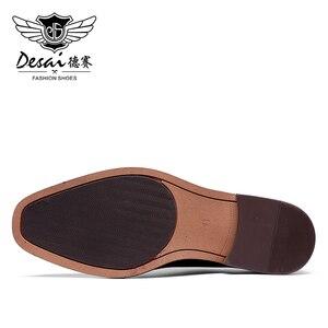 Image 2 - Мужские классические туфли оксфорды Desai, черные вечерние туфли из натуральной кожи в итальянском стиле, в Корейском стиле, 2020