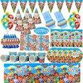 Cocomelon принадлежности для тематической вечеринки набор одноразовой посуды кружки, тарелки, салфетки соломы воздушные шары с днем рождения р...