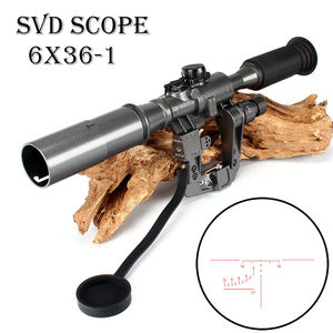 POS táctico 6X36-1 rojo iluminado SVD AK rifle de alcance para francotirador caza Trail RifleScope