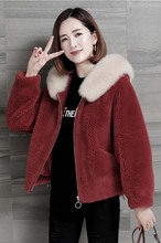 Women Autumn Winter Faux Fur Coat Fashion Hooded collar Short Jacket Casual Loose Large size Female Fake new fur