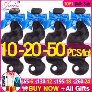 Jarin волосы 10-20-50 шт./лот малазийские волнистые пучки волос 100% Человеческие волосы Remy волосы для наращивания натуральный цвет