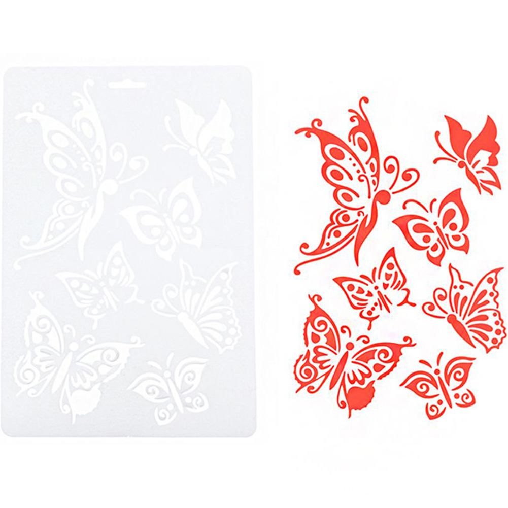 PVC DIY Craft Butterfly Stencils Template Painting Scrapbooking Stamps Album Hot Selling New