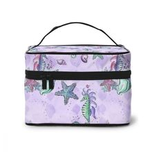 NOISYDESIGNS Mermaid Print Toiletry Bag Cosmetic Women Travel Make Up Cases Big Capacity Cosmetics Suitcases For Makeup