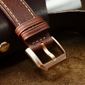 Image 5 - San Martin Bronze Pilot męski zegarek ręczny mechaniczny szafirowy skórzany pasek Luminous wodoodporny przezroczysty futerał z powrotem