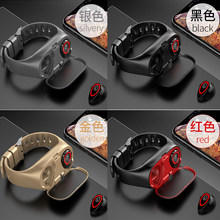 M1 Smart Fitness Bracelet For Women Men With Bluetooth Headphone Pedometer Hate Rate Blood Pressure Monitor Heath Bracelet(China)