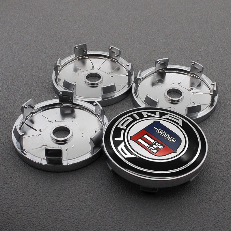 4PCS 56/60MM Car Wheel Center Hub Caps Car Emblem Badge Wheel Center Cap label For BMW ALPINA Logo E46 E39 E90 E60 E36 F30 X5 image