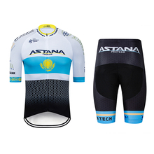 2019 new astana professional team mens cycling wear sports jersey suit mountain bike summer quick-drying UV protection
