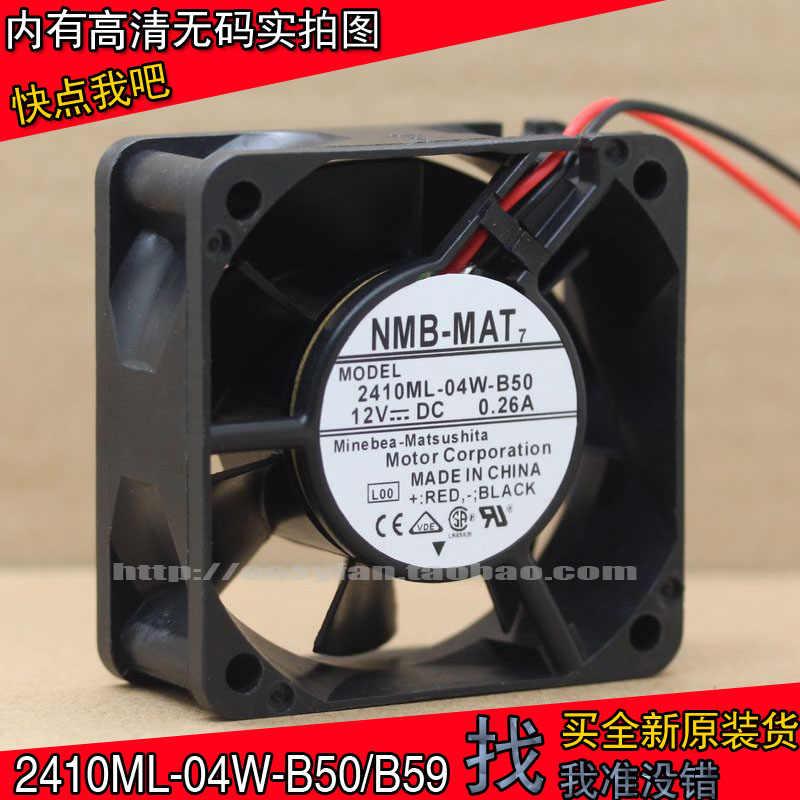 NMB 2410ML-04W-B50 / 2410ML-04W-B59 6025 6CM podwójna piłka 12V 0.26A duża objętość powietrza wentylatora 60 × 60 × 25mm chłodzenia wentylator chłodzący