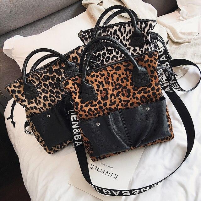 2021 women bags luxury designer handbags Cross body bags for women Leopard shoulder bag purses tote summer shopper bag 5