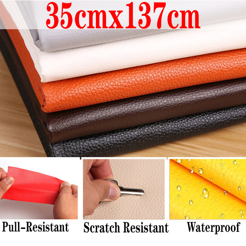 Самоклеящиеся кожаные нашивки 35x137 см, нашивки для ремонта дивана, наклейки на клейкой основе, не требующие глажки, наклейки из искусственно...