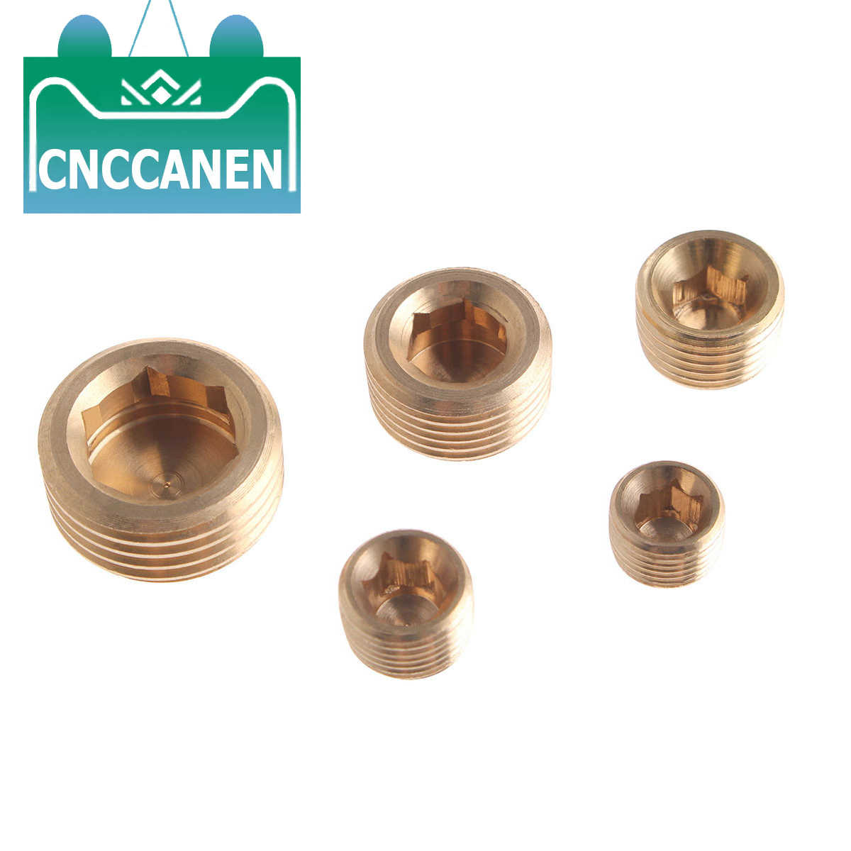 "Brass 1//8/"" 1//4/"" 3//8/"" 1//2/"" NPT Brass Internal Hex Thread Socket Pipe Plug ODES"