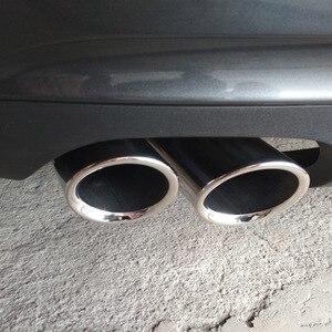 Image 4 - ESPEEDER 2pcs Auto Auto di Coda Dual Letout In Acciaio Inox di Scarico Punta del Tubo di Punta Marmitta Modificata Per Audi A1 A3 VW Beatles