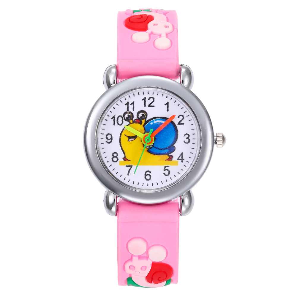 Relogio Infantil Cartoon Snails Kids Watches Montre Enfant Rubber Quartz Children's Watch For Girls Boys Child Kid Clock Baby