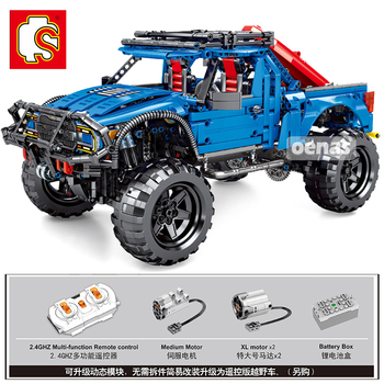 SEMBO MOC Forded Mustanged F-150 SUV Trucks Car Model 10265 Creator Technic Speed Technique Car RC Christmas Gifts Toys Raptor image
