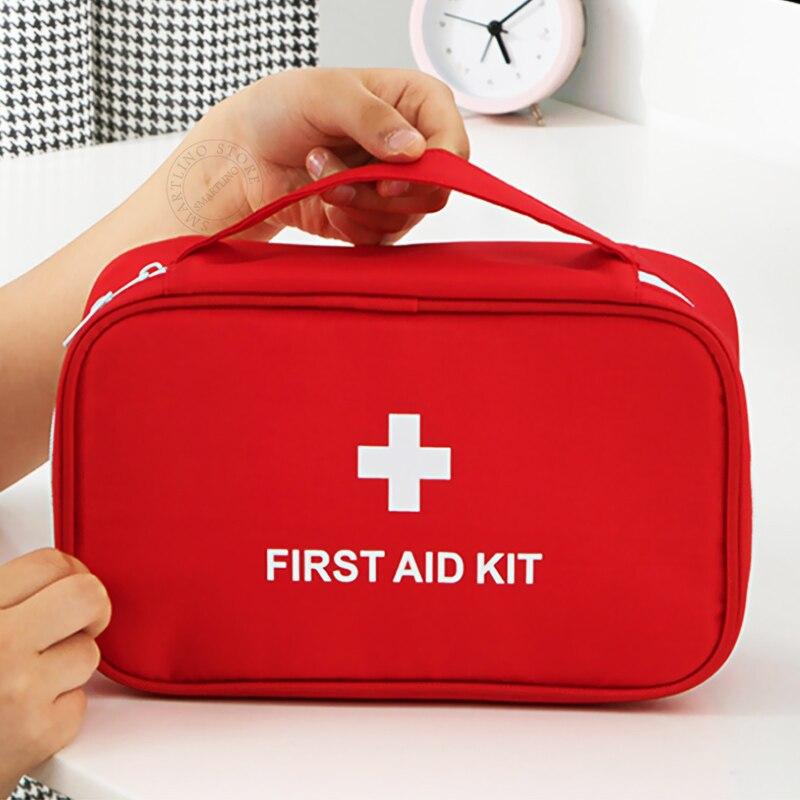 Large Capacity Emergency Medical Bag First Aid Storage Box Makeup Handbag For Outdoor Survival Travel Sport Camping Hiking