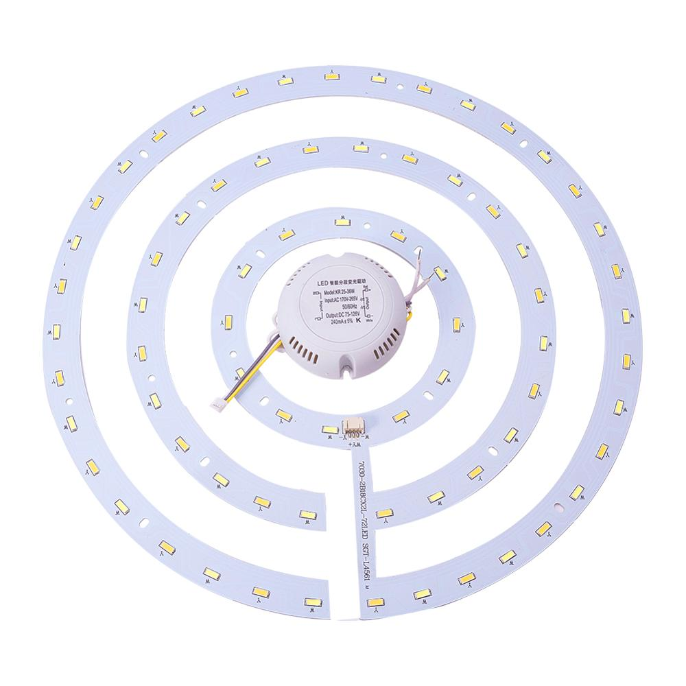 Othmro 1Pcs 5730 SMD LED Panel Circle Aluminum Lamp Board Ceiling Light 36W 220V D/316mm Pure White 6500K Warm White 3000K