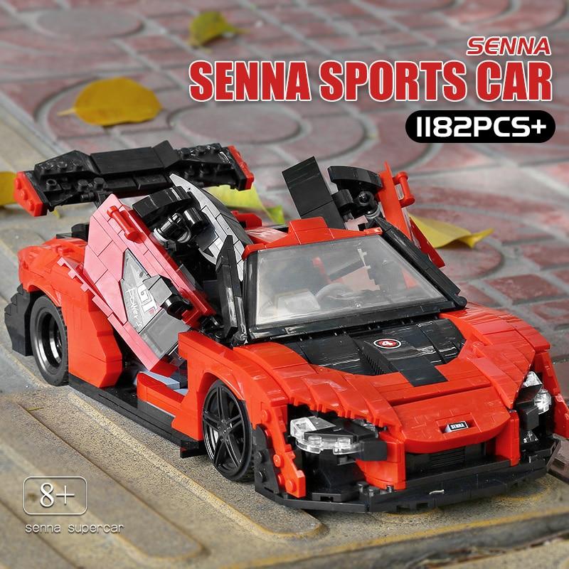 MOULD KING 10007 1182Pcs High-tech Car Toys The Senna Building Blocks