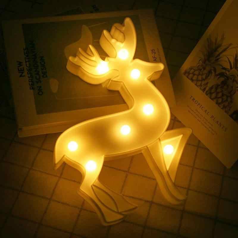 8 Lampada LED Nightlight di Protezione Ambientale Risparmio energetico Della Batteria di Compleanno di Natale per I Bambini Le Ragazze di Casa Decorazione Della Stanza