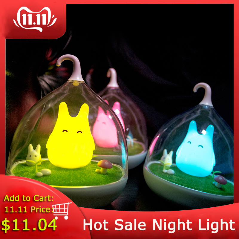 Asign Night Light Style Totoro USB Portable LED  Nightlight Lamp For Gift Touch Sensor For Baby Bedside Lamp