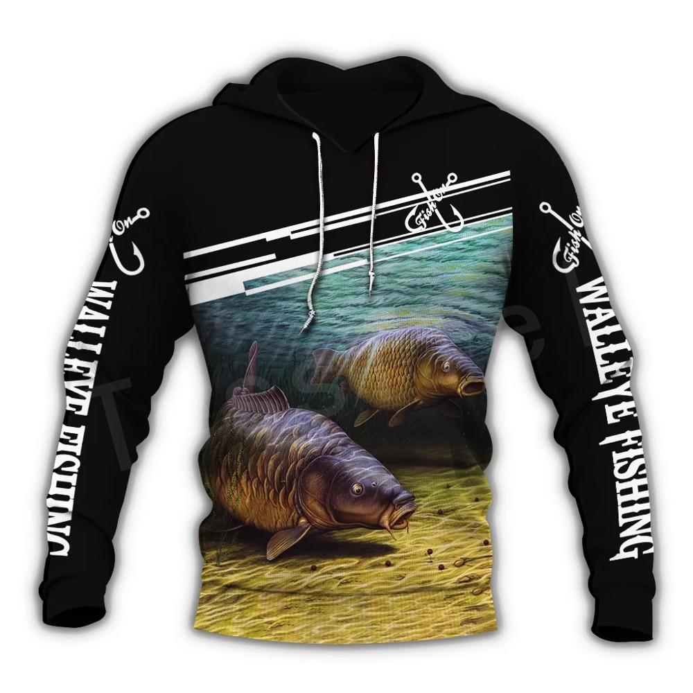 Tessffel New Fashion Animal Fishing Art Harajuku Casual Tracksuit Funny 3D Print Hoodie/Sweatshirt/Jacket/Mens Womens S10