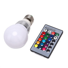 Rgb Colour Changing E27 Rgb Led Lamp Led Lamp Licht Spot Lamp Ir-afstandsbediening Thuis Woonkamer Party Decoratie(China)