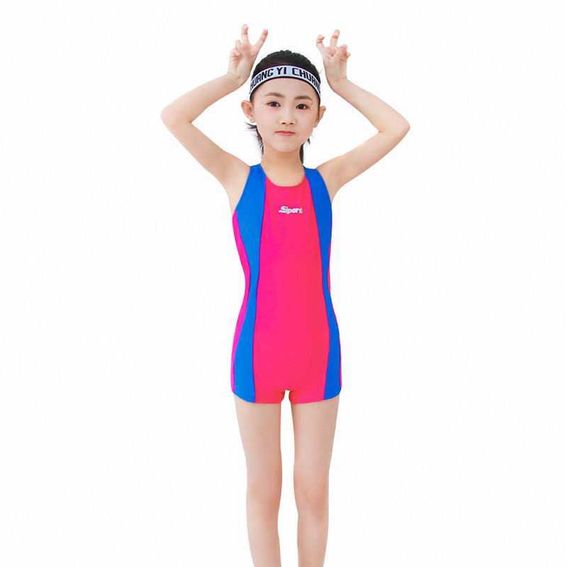 New Style Students Swimming Training Game Amazon Hot Selling Bathing Suit Girls Long Legs Boxer New Style Big Boy Swimwear