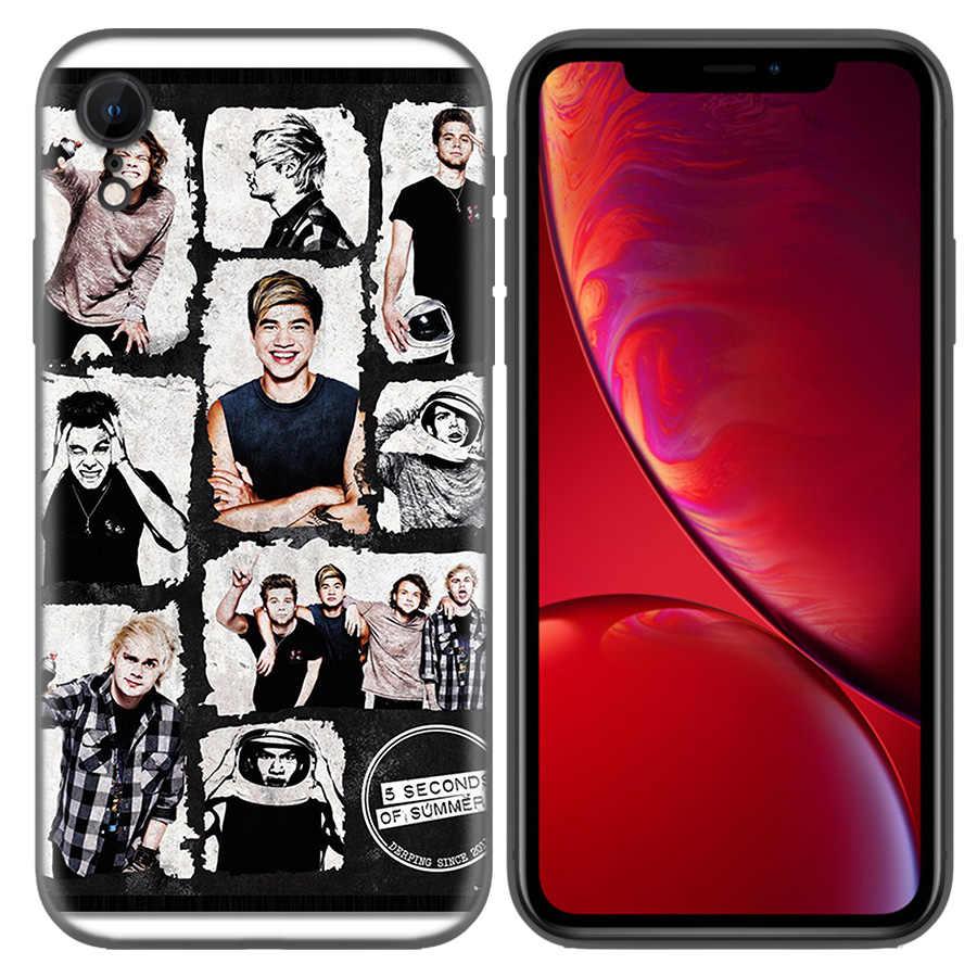 5 segundos de patrón de verano TPU silicona suave funda para iPhone X XS XR XS 11 11Pro Max 7 8 6 6S 5 5 5S 5C SE Plus Fundas Capa