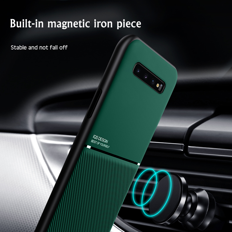 Brand new IQS Design Ultra Thin Car Magnetic Soft Cover Case for Samsung Galaxy S10 Series