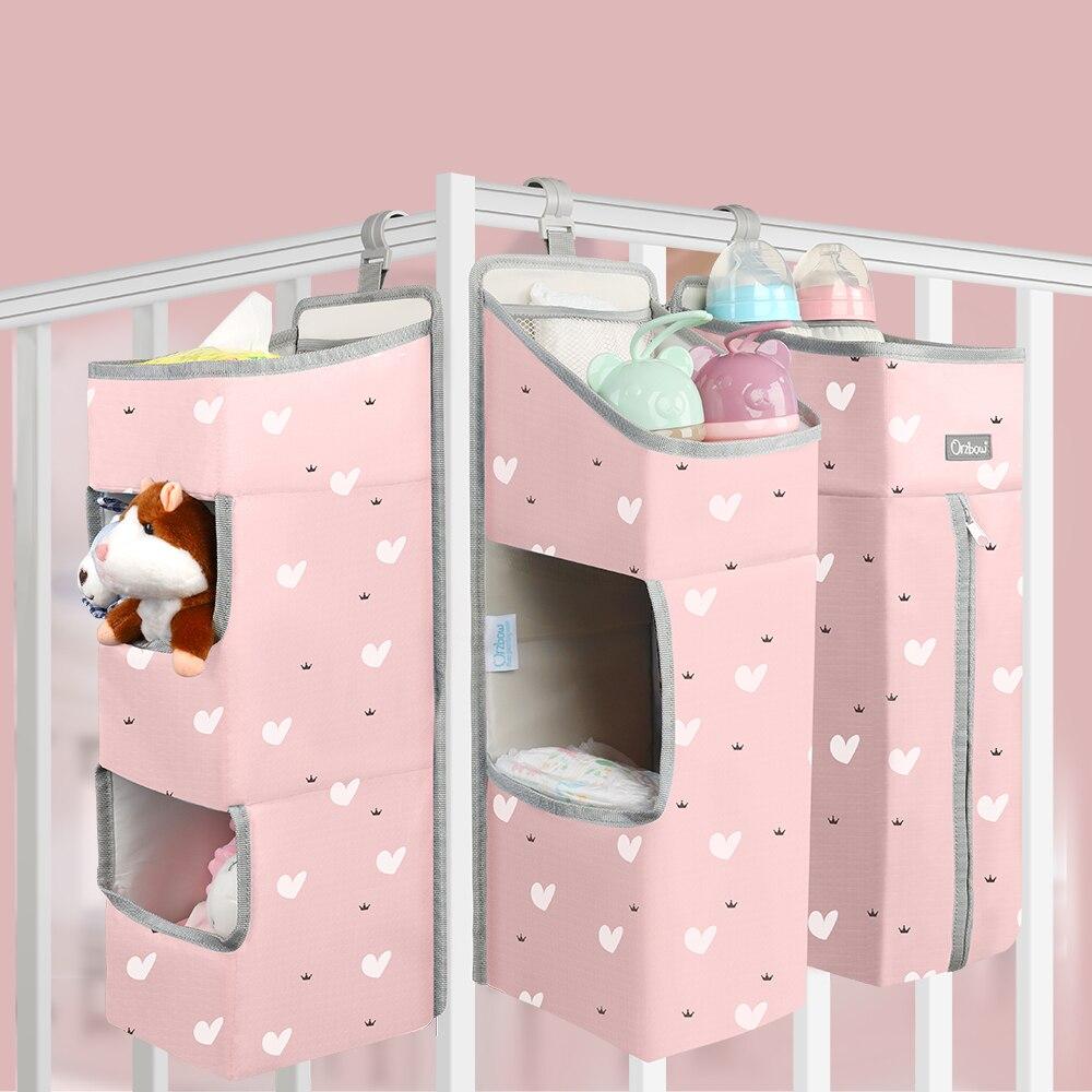 Orzbow Baby Beddengoed Organizer Bed Opknoping Zakken Voor Pasgeboren Crib Organizer Babyverzorging Luier Opbergzakken Voor Kids Bed Set
