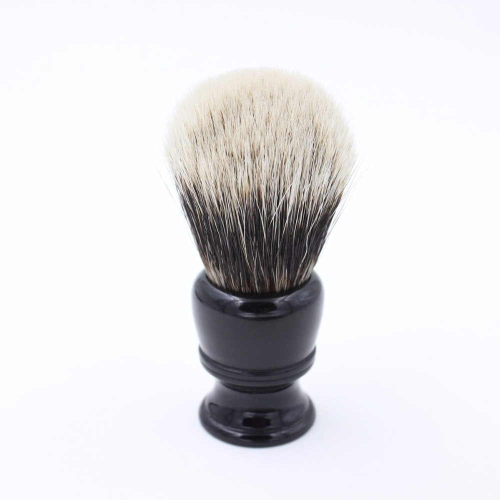 VIGSHAVING  Black Resin Handle Finest Badger Hair Shaving Brush