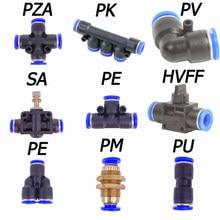 1 adet PU/PV/PY/PE/PZA/PM/PA/SA/HVFF/PK hızlı pnömatik bağlantı parçaları bağlantı elemanları plastik bağlantı borusu boru su 04 06 08 10 12 14 16