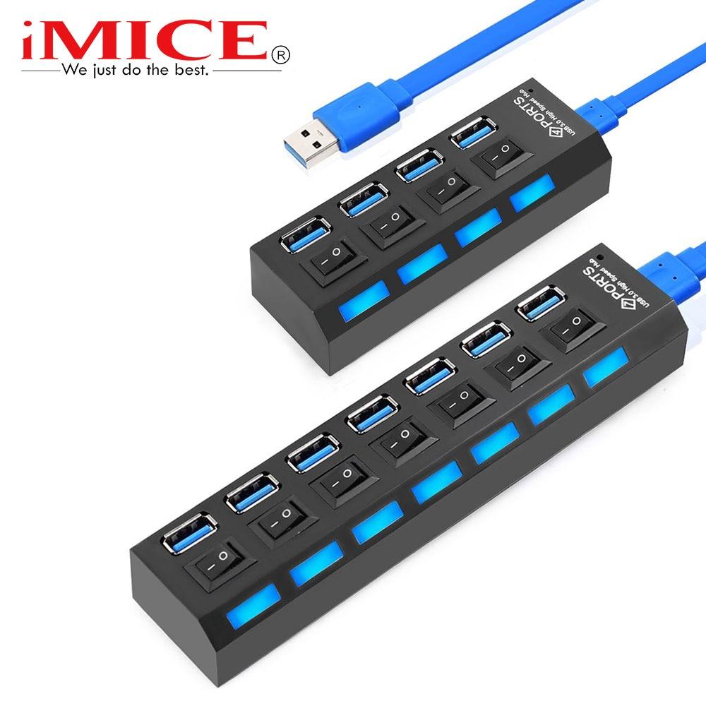 USB 3.0 HUB USB HUB 2.0 Multi USB Splitter USB 3 Hab with Power Adapter Hub USB 3.0 4/7 Port Expander PC Computer Accessories