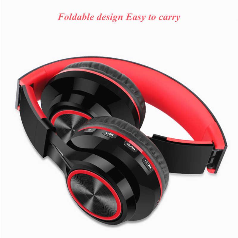 LVcards słuchawki bezprzewodowe zestawy słuchawkowe bluetooth składane słuchawki w słuchawki z mikrofonem do telefonów PC słuchawki A1-01