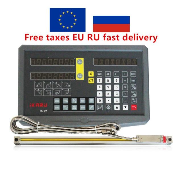 الاتحاد الأوروبي RU الأسهم Fivetecnc 2 محور القراءة الرقمية DRO عرض مع 70 1020 مللي متر مقياس خطي التشفير الخطي لآلة طحن مخرطة