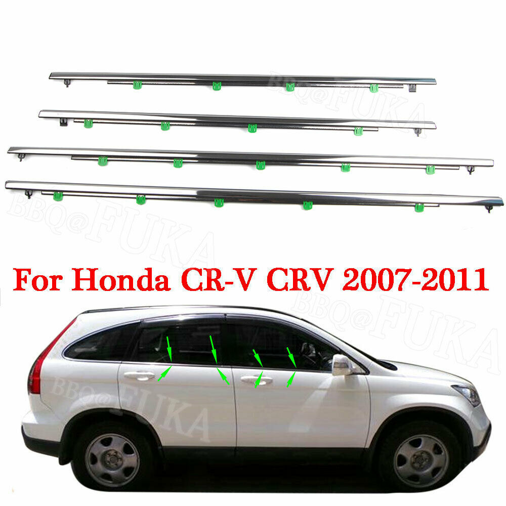 Auto Accessoires Voor Crv 2010 2011 Honda CR-V 2007 2008 2009 Auto Venster Moulding Trim Weatherstrips Seal Lijn Auto Styling